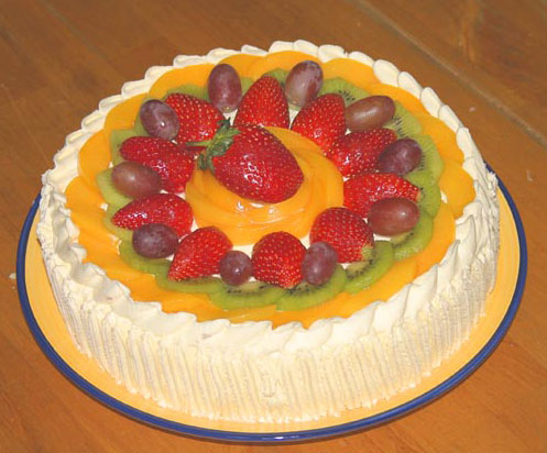"It is however a picture of a ""traditional"" Chinese birthday cake,"